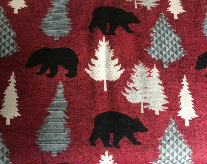 Bears and Trees Flannel Fabric by the Yard