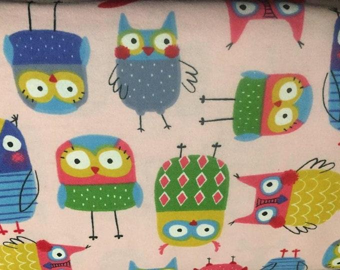Nursery Owl Flannel Fabric by the Yard
