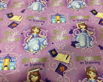 Sofia the First Cotton Fabric by the Yard