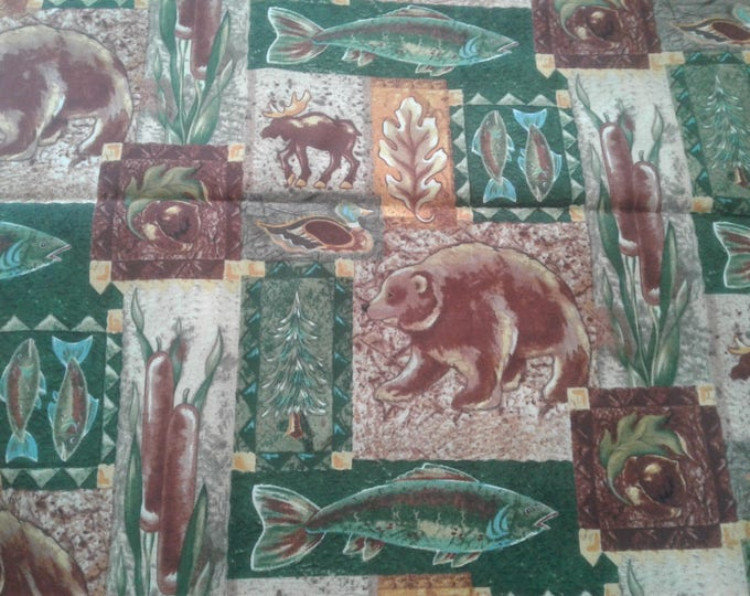 Wildlife Cotton Fabric by the Yard