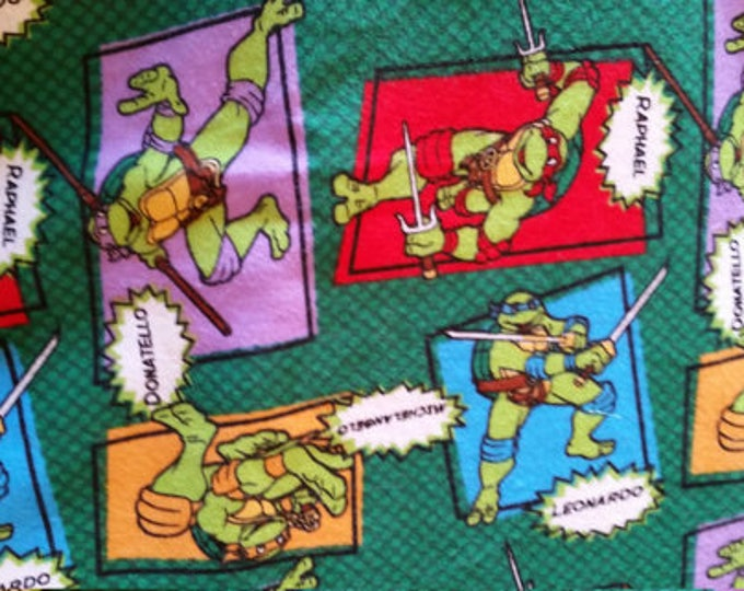 Ninja Turtles Flannel Fabric by the Yard