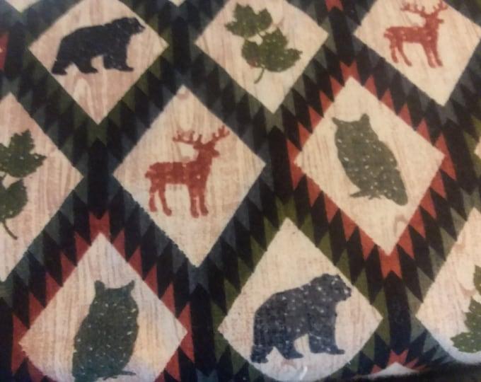 Wildlife Flannel Fabric by the Yard