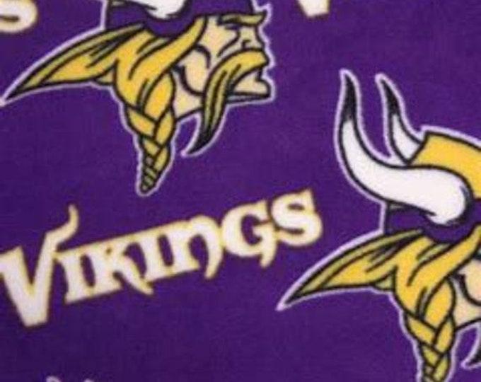 Minnesota Vikings Fleece Fabric by the Yard