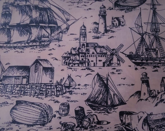 Sail Away Cotton Fabric by the Yard
