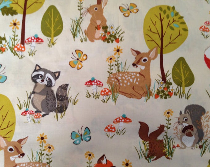 Nursery Forest Cotton Fabric by the Yard