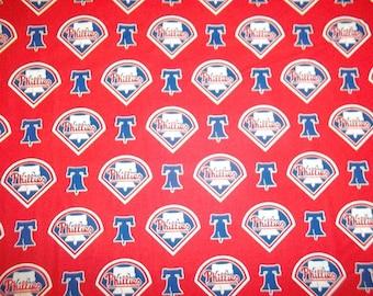 Philadelphia Phillies Cotton Fabric by the Yard