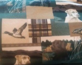 Ducks and Labs Fleece Fabric by the Yard
