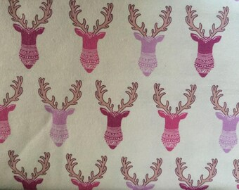 Deer Flannel Fabric by the Yard