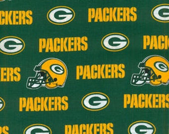 Green Bay Packers Cotton Fabric by the Yard