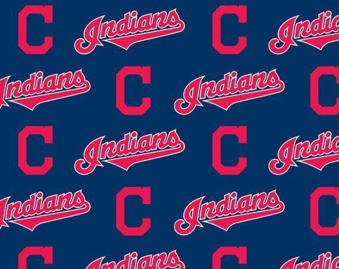 Cleveland Indians Cotton Fabric by the Yard