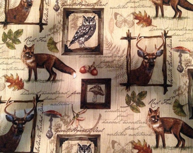 Wildlife Notes Cotton Fabric by the Yard