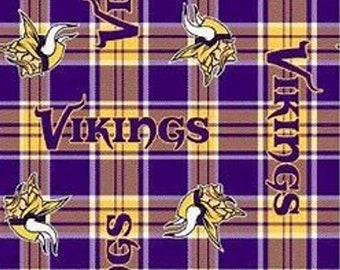 Minnesota Vikings Patch Fleece Fabric by the Yard