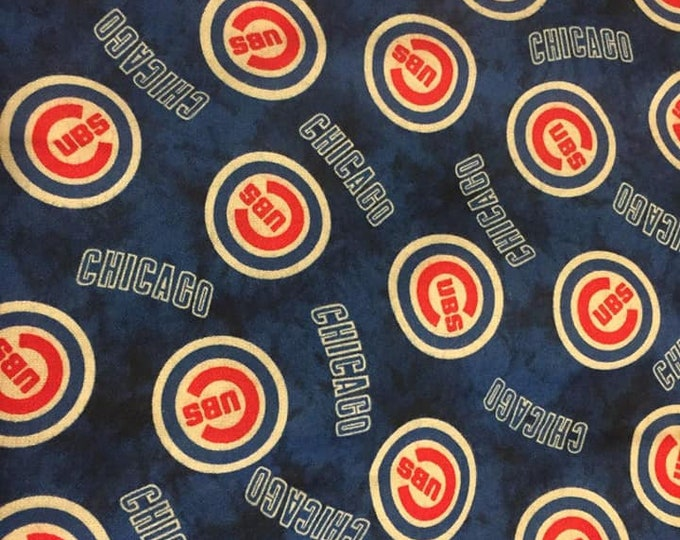 Chicago Cubs Flannel Fabric by the Yard