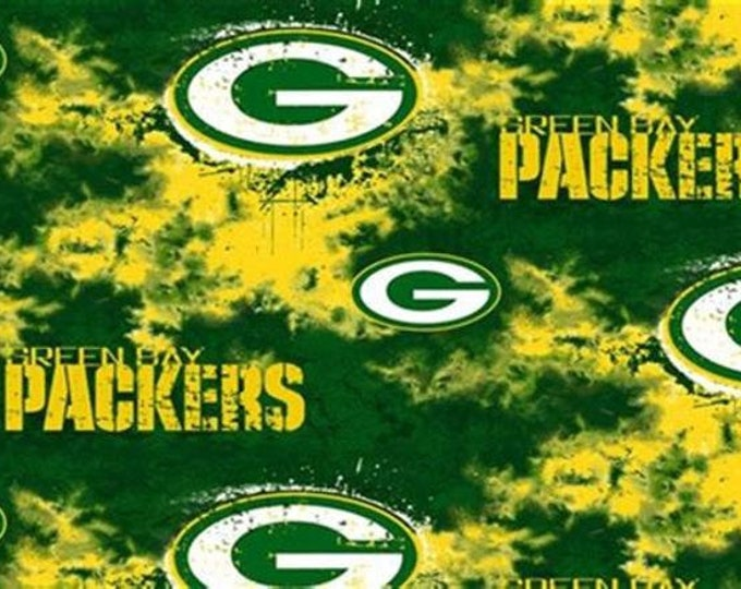 Green Bay Packers Fleece Fabric by the Yard