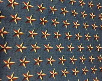 Patriotic Stars Cotton Fabric by the Yard