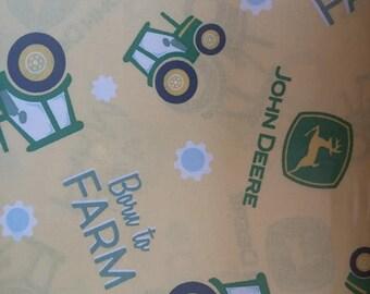Born to Farm John Deere Cotton Fabric by the Yard