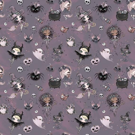 pumpkin fabric knit fabric Halloween fabric halloween spider witch fabric skull fabric cotton fabric jack o lantern fabric