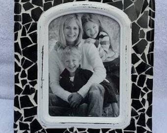 8x10 Black Mosaic Photo Frame with 4.5x6.5 photo opening