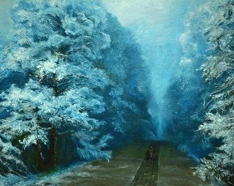 Winter by Aivazovsky, Canvas, oil, 60x80, painting, original oil, landscape, snow, artwork, gift idea