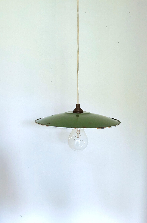 Abat-Jour Emaille Lampe Atelier Art Déco Vintage Industrielle Design Ancien Tôle