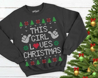 9c3dbf1f This girl loves Christmas Printable, T-shirt, Instant Download