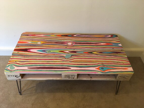 Reclaimed Retro Pallet Coffee Table In Urban Farmhouse Style Etsy