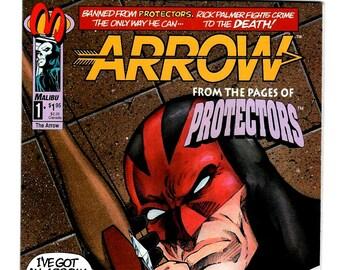 Arrow Comic Books, Malibu Comics Arrow Vol. 1 #1 (NM) 1992