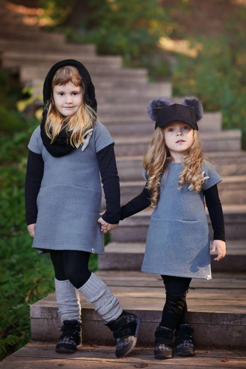 59a5998faea Wool girl dress Pockets Toddler winter dress Child tunic dress | Etsy