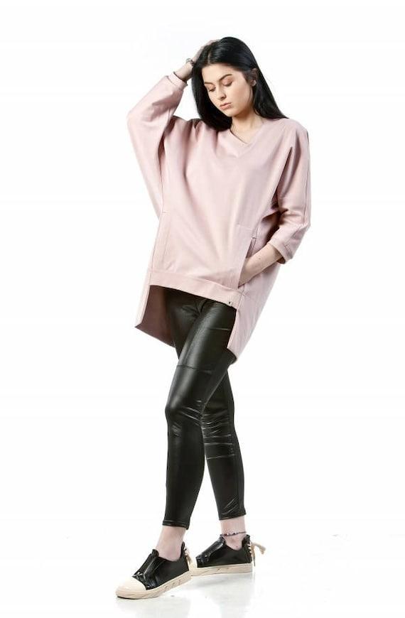 7a6436a94 Oversize baggy sweatshirt Womens loose long sleeve top Dusty