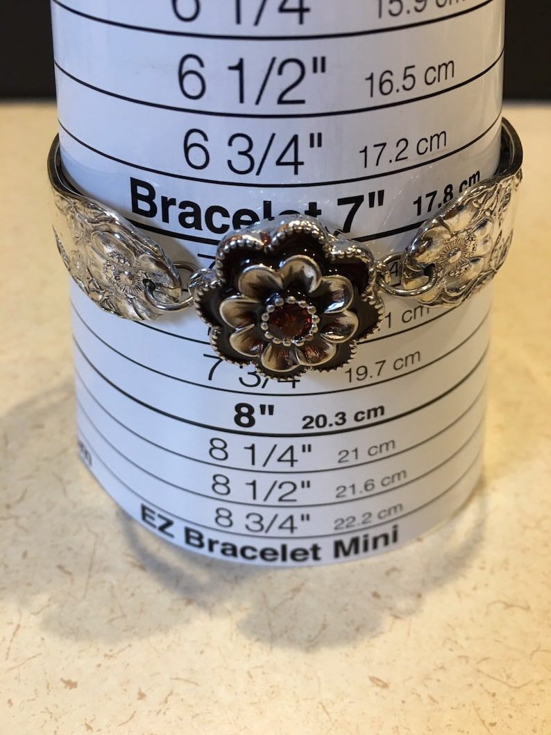 Vintage silverware silver plated interchangeable snap button bracelet with magnetic clasp 7 14 inch wrist