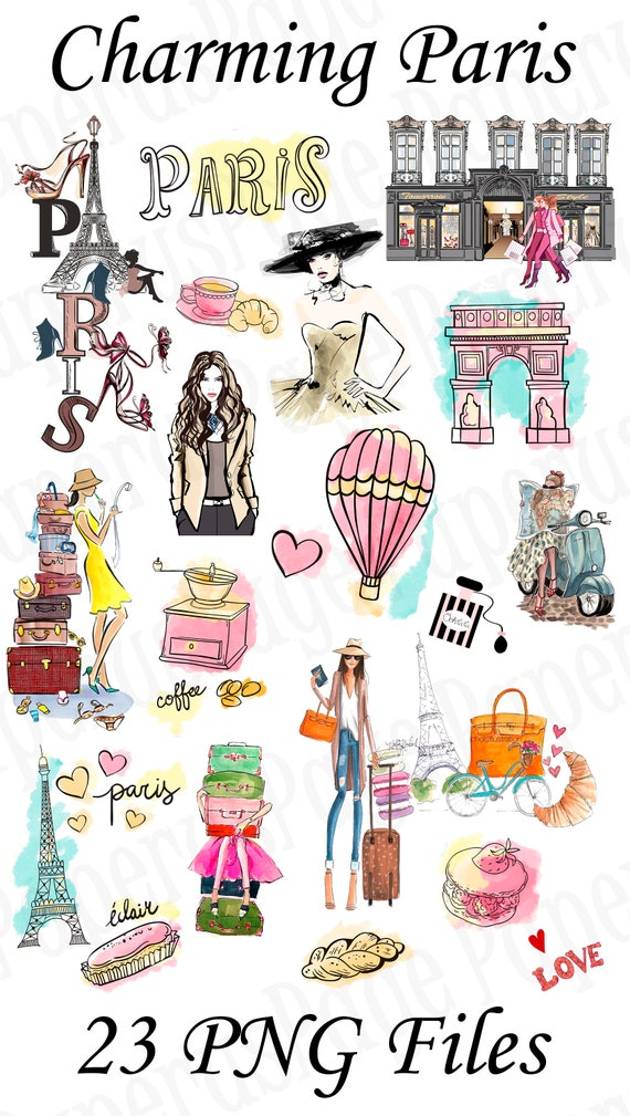 Paris, Eiffel Tower, Paris stickers, stickers for decorating, diary  stickers,stickers for print, Paris,Macarons,digital stickers, PNG