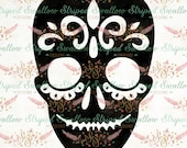 Sugar Skull SVG Digital Cut File