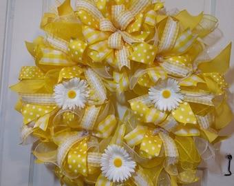 Daisy Yellow Wreath
