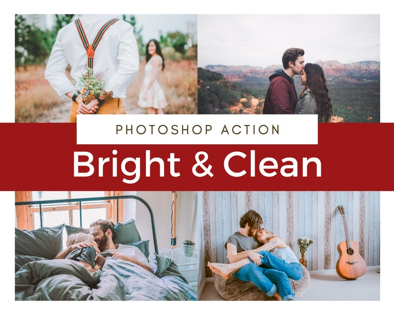 10 BRIGHT & CLEAN Photoshop Actions for Professional Wedding, Elopement,  Portrait, Newborn Editing