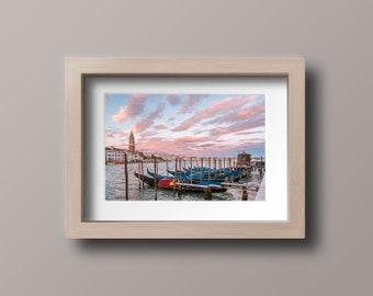 Venice at Sunset Photography | Wall Art Print, Cityscape Wall Decor, Gift