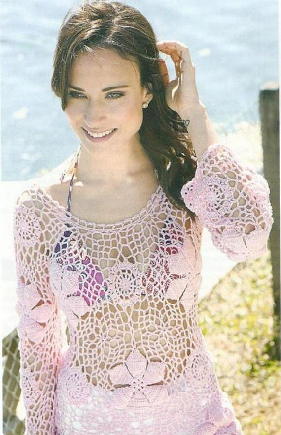 patrón de ganchillo-top de crochet de verano superior de las mujeres ...