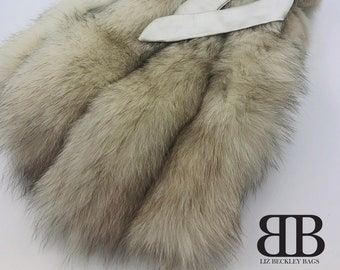 Luxury Hot Water Bottle Cover, Made from Real Up-Cycled Fur