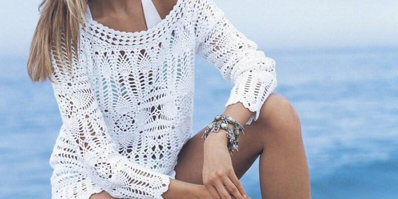 handmade clothes crochet summer clothing crochet blouse crochet clothing cotton blouse crochet fashion beachwear organic clothing