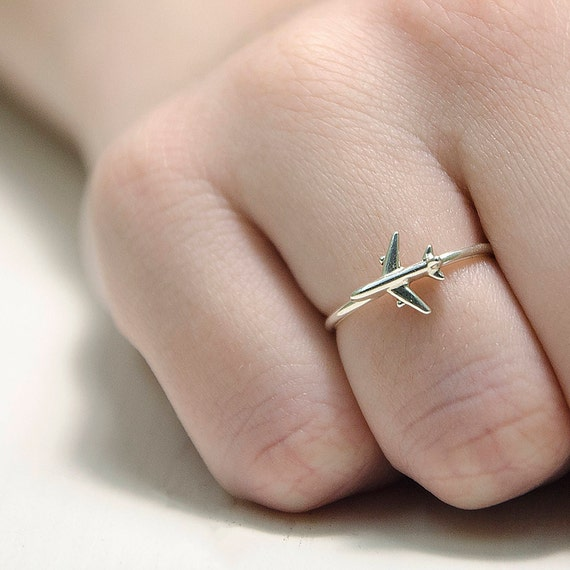 Travel Ring Airplane Jewelry Ring Gifts For Pilots Infinity Etsy