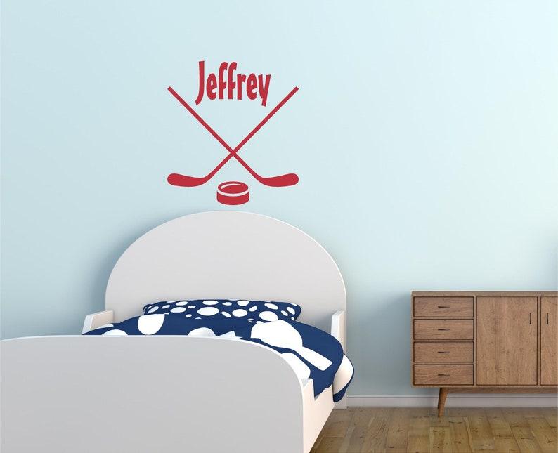 Personalized Wall Decal  Custom Wall Decor  Vinyl Stickers  Wall Art  Home Decor  Stickers  Vinyl  Decal  Hockey  Sports  Decals