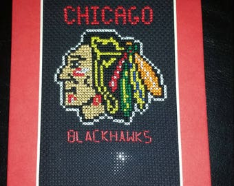 Chicago Blackhawks cross stitch