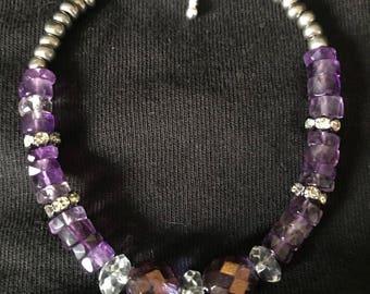 Amethyst beaded bracelets