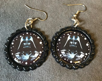 Darth vadar earrings