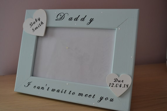 """8x6"""" Personalised Special Gift Family Dad Nan Grandparents Baby Scan Photo Frame"""