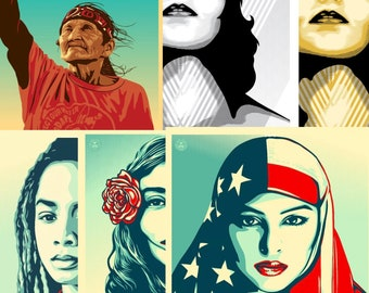 WE THE PEOPLE posters Public Protest Women's March