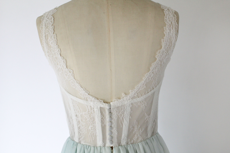 Sample Sale Wedding Dress Low Back Wedding Dress Coloured Etsy
