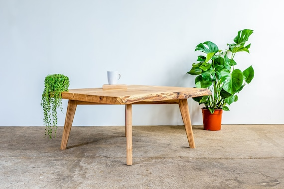 Rustic Oak Coffee Table Etsy