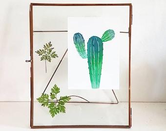 Cactus Watercolour Print, Cactus Wallart,