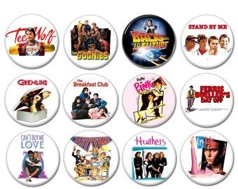 80s Teen Movies buttons (badges, pins ,pinbacks, eighties, tees, tshirt, poster, props)