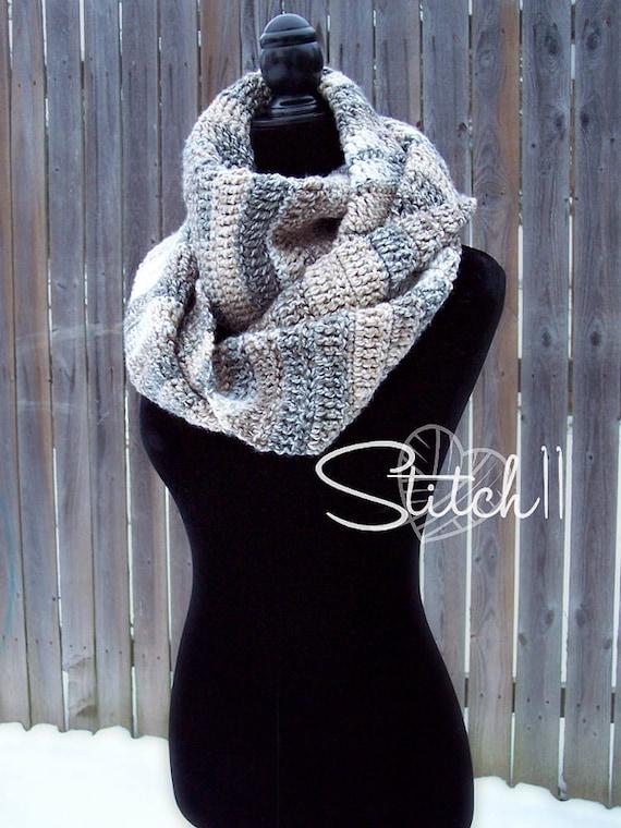 Simple Infinity Scarf Crochet Pattern Crochet Scarf Pattern Etsy